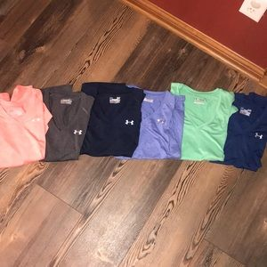 6 under armour Dri-fit shirts